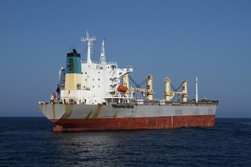 General cargo vessel anchored