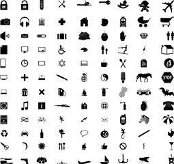 over a hundred different icons
