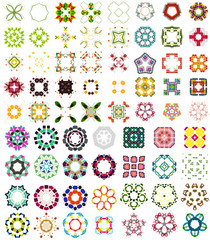 Set of abstract geometric icons / shapes