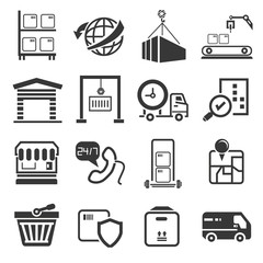 shipping icons set