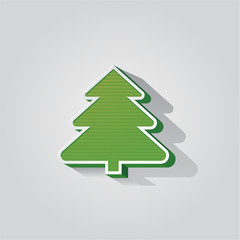 Modern abstract christmas tree background eps 10