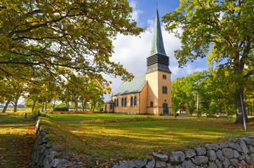 Idyllic small church Swedish church
