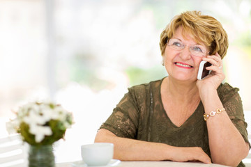 senior woman talking on her cell phone