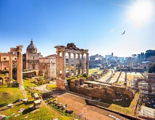 Poster Rome Roman ruins in Rome, Forum