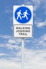 Walking jogging sign