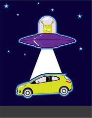 UFO car abduction