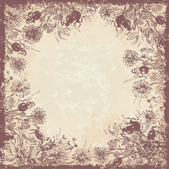 Shabby floral background