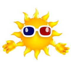Sunshine watches a 3d movie