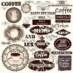 Set of vintage vector  labels, headlines and badges