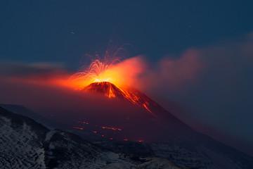 Eruption etna 2013 Fototapete