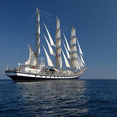 Sailing ship. series of sailing ships and yachts