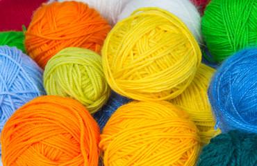 Several colorful balls
