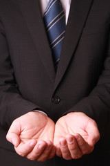 Businessman hands as if holding something
