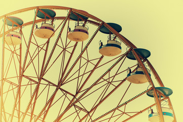 Wheel in the amusement park