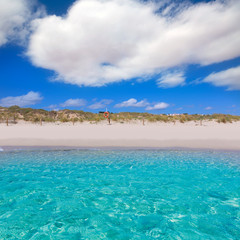 Alaior Cala Son Bou in Menorca turquoise beach at Balearic