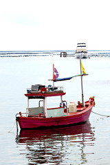 Small fishing boats.