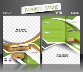 Fashion store Front & Back Flyer & Poster Cover Template