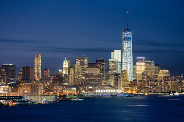 Fototapete - New York skyline de nuit