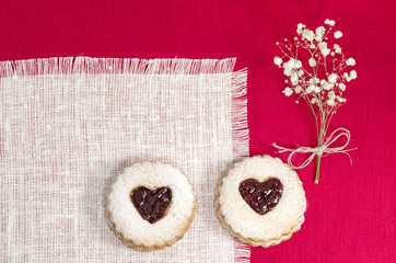 Wall Mural - Homemade cookies Valentine's Day