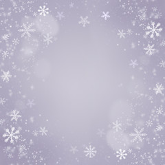 Christmas snowflakes background. Holiday Violet Card