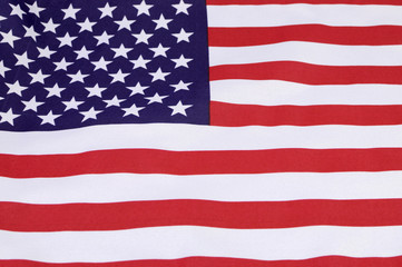 Background close up of USA Stars and Stripes flag