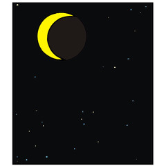 month moon vector drawing