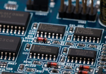 Chip on blue PCB