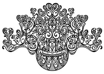 Swirling decorative elements