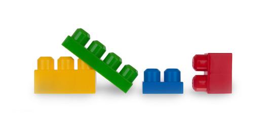 Colorful plastic bricks