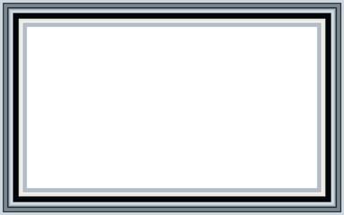 Metal white frame