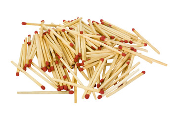 Close-up of a heap of matchsticks