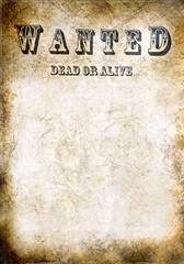 Wanted vintage poster - dead or alive