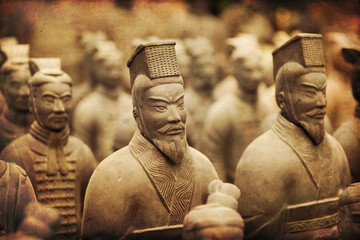 Spoed Foto op Canvas Xian Chinese terracotta army - Xian