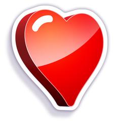 gommette-médical coeur