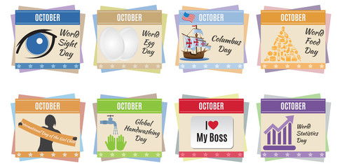 World holidays. October
