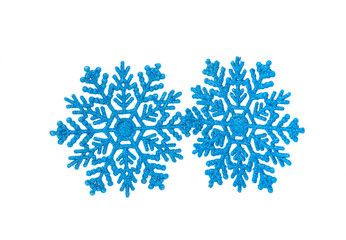 blue snowflakes isolated