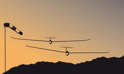 glider_sunset