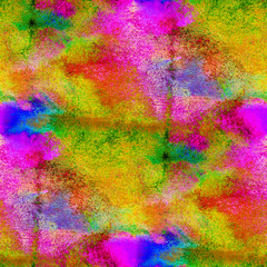 seamless painting yellow red pink green watercolor with bright b