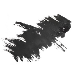black brush paint stroke texture watercolors spot isolated