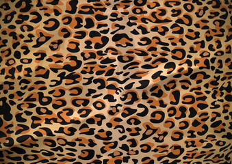 Leopard skin, Repeat pattern With wrinkles