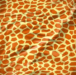 Giraffe seamless pattern texture With wrinkles
