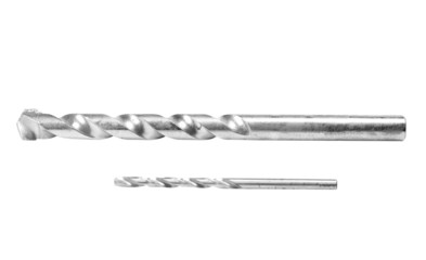 Close-up of two drill bits