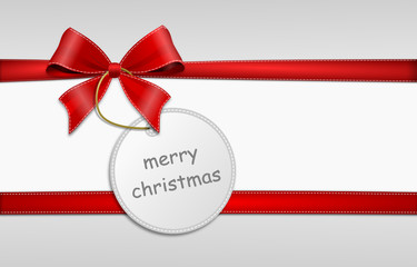 Schleife Schild mery christmas