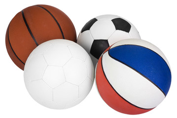 Close-up of various balls