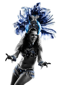 woman samba dancer silhouette