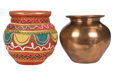 Close-up of two kalashes