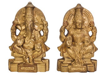 Figurines of Goddess Lakshmi and Lord Ganesha