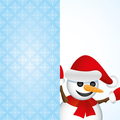 Vector background. Snowman.