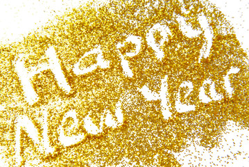 Happy New Year golden glittering background