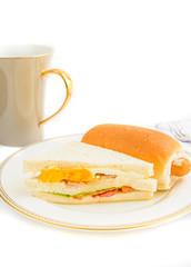 Sandwich and hotdog